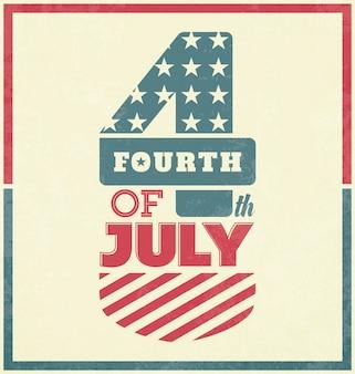 Retro Unabhängigkeit Tag Design