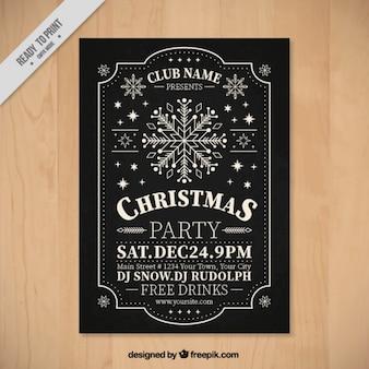 Retro Weihnachtsparty Broschüre