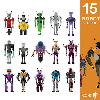 Roboter-Ikonen-Sammlung