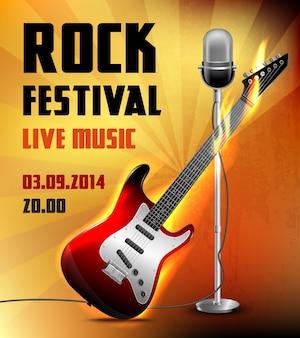 Rock-Konzertplakat