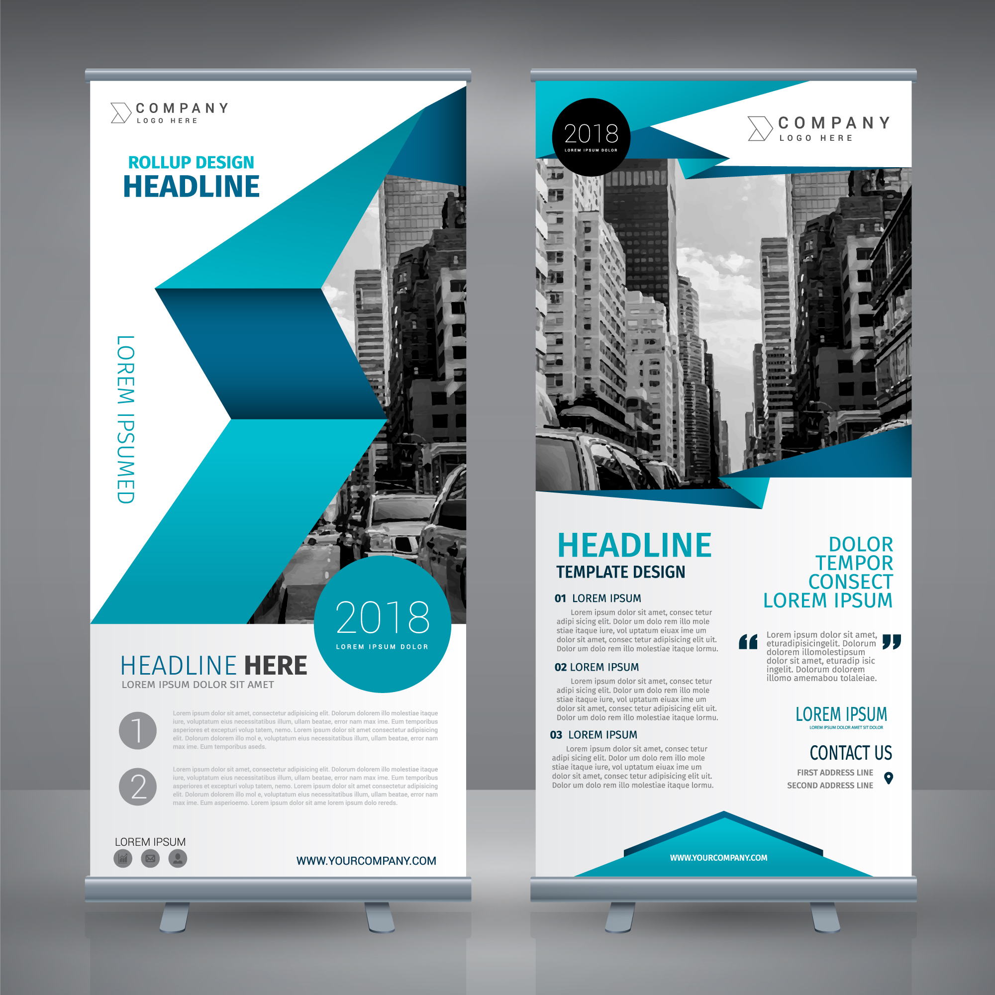 Roll up Template-Design