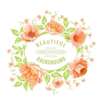 Rondell mit orange Blumen