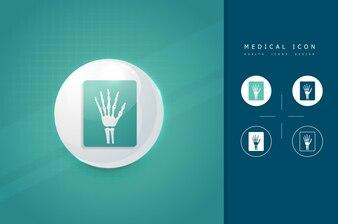 Röntgen Hand medizinische Symbol