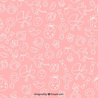 Rosa Babyparty-Muster
