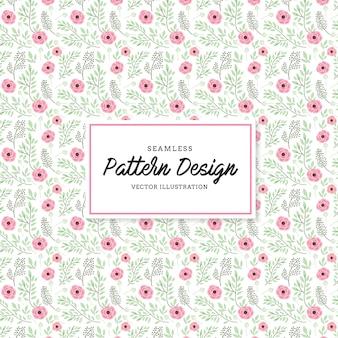 Rosa Blumen Muster Hintergrund