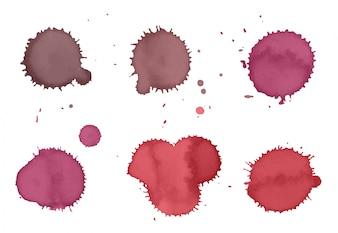 Rosa Farbe Flecken Sammlung