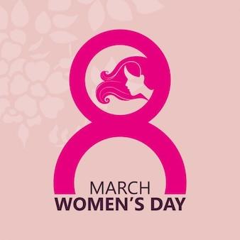 Rosa Frauen-Tageshintergrund