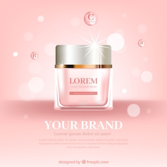 Rosa Kosmetikverpackungen