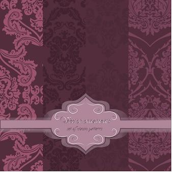 Rosa Muster Hintergrund Sammlung