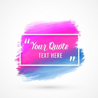 Rosa und blauer Aquarellfleck mit Platz für Ihren Text oder Zitat