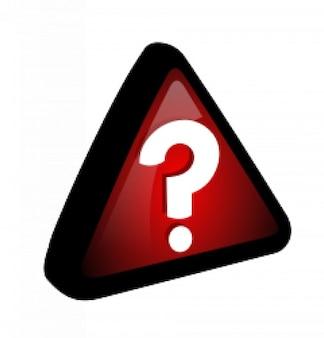 Rot - Abfrage Symbol