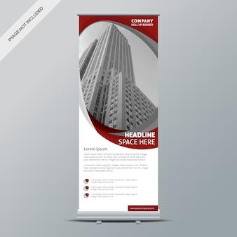 Rot und Weiß rollen Design