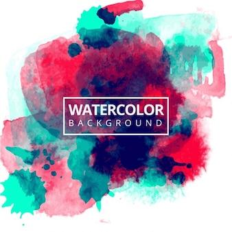 Rote und blaue Aquarell Hintergrund