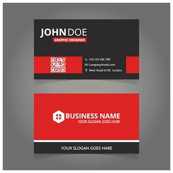 Rote und schwarze Designer-Visitenkarte