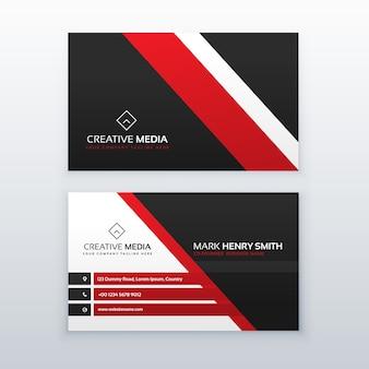 Rote und schwarze professionelle Visitenkarte für Ihre Marke