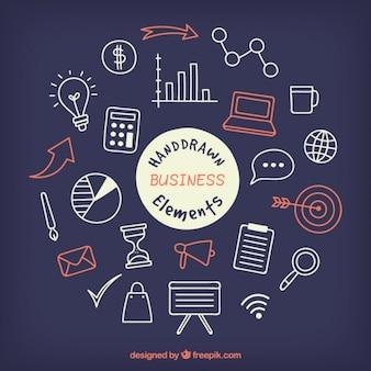Rote und weiße Business-Symbole