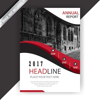 Rote und weiße Business-Broschüre