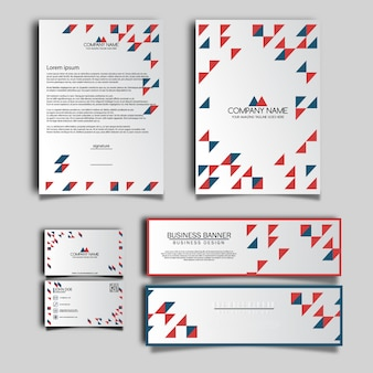 Rote und weiße Geschäftsbriefpapier
