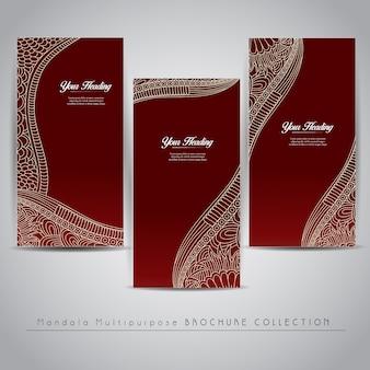 Rote vertikale Banner-Design