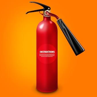 Roter Feuerlöscherentwurf