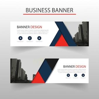 Rotes Dreieck abstrakten Banner Template-Design