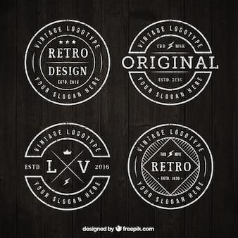 Rund Vintage Logo Sammlung