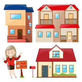 Saleperson Verkauf Haus und Gebäude