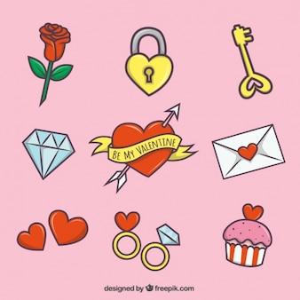 Sammlung der Liebe Elemente für Valentin