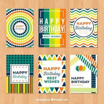 Sammlung von abstrakten bunten Karte für alles Gute zum Geburtstag