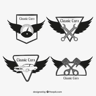 Sammlung von Auto-Logos mit Flügeln