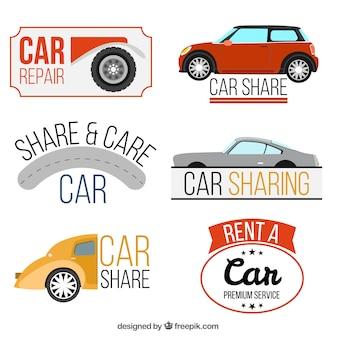Sammlung von Autoreparatur Logos