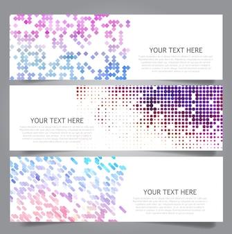 Sammlung von Bannern mit abstrakten Designs