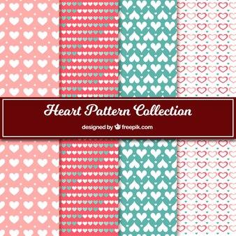 Sammlung von dekorativen Herzen Muster