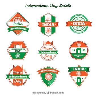 Sammlung von dekorativen Insignien der indischen Unabhängigkeit