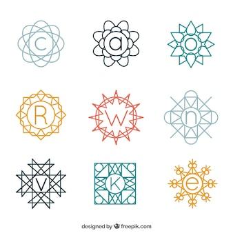 Sammlung von dekorativen Monogramm