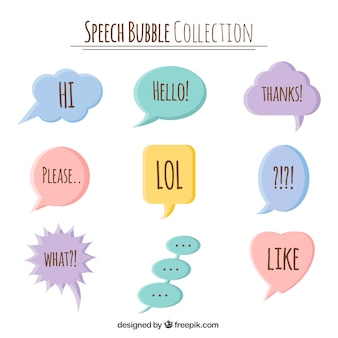 Sammlung von Dialogballons