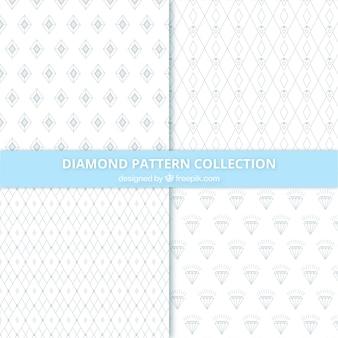 Sammlung von Diamant-Muster