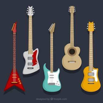 Sammlung von E-Gitarren