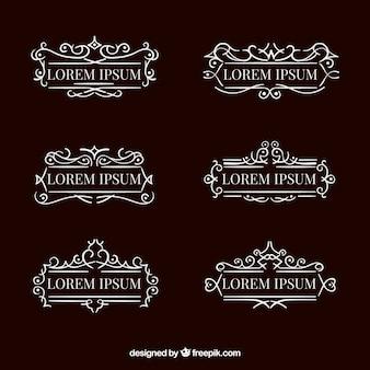 Sammlung von eleganten ornamentalen Monogramm