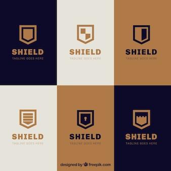 Sammlung von eleganten Schilde Logos