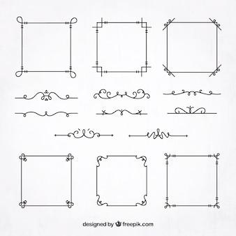 Sammlung von Frames und Grenzen