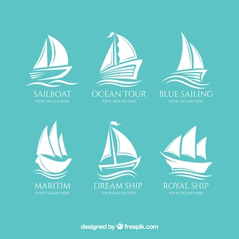 Sammlung von großen Bootslogos
