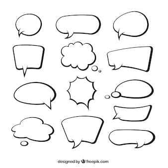 Sammlung von Hand gezeichneten Sprechblase