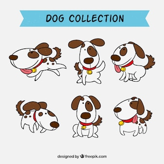 Sammlung von handgezeichneten Hunden