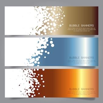 Sammlung von Headern mit Blasen Design