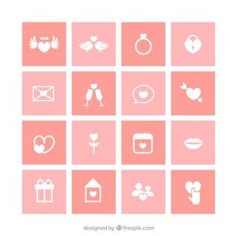 Sammlung von Hochzeit Symbole