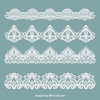 Sammlung von klassischen Spitzen Ornamenten