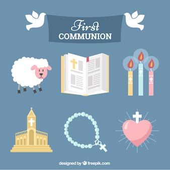 Sammlung von Kommunionszubehör