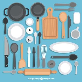 Sammlung von Küchenutensilien