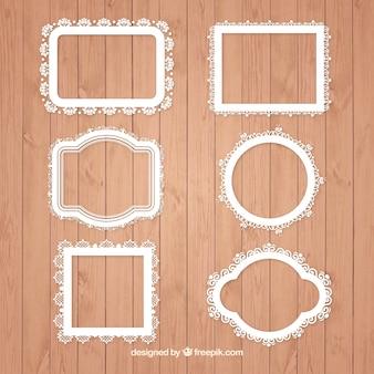 Sammlung von ornamentalen Rahmen